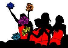 Jonge cheerleaders drie Royalty-vrije Stock Afbeelding