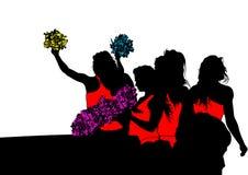 Jonge cheerleaders twee Stock Foto's