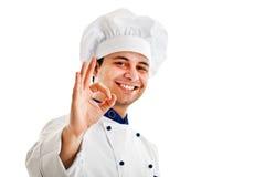 Jonge chef-kok Royalty-vrije Stock Foto's