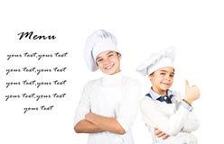 Jonge chef-koks royalty-vrije stock fotografie