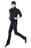 Jonge Chinese, en jumpi mens die loopt aanstoot Stock Foto's