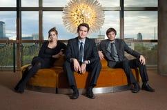 Jonge collectieve stafmedewerkers royalty-vrije stock fotografie