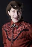 Jonge cowboyglimlach Royalty-vrije Stock Fotografie
