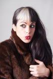 Jonge dame met aantrekkelijke ogen royalty-vrije stock foto's