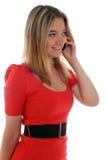 Jonge dame op de telefoon Royalty-vrije Stock Fotografie