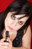 Jonge damemoordenaar Stock Foto's
