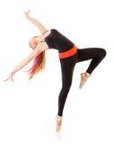 Jonge dansende vrouw stock fotografie