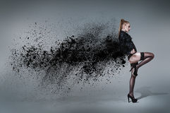 Jonge dansende vrouw Royalty-vrije Stock Fotografie