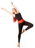 Jonge dansende vrouw Stock Foto