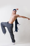 Jonge danser in motie Stock Foto