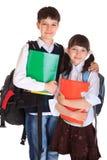 Jonge de schoolkinderen van Happpy Royalty-vrije Stock Afbeeldingen