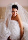 Jonge donkerbruine bruid Royalty-vrije Stock Afbeelding