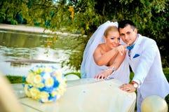 Jonge echtgenoot en vrouw Royalty-vrije Stock Foto's