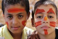 Jonge Egyptische jongens Stock Foto's