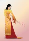 Jonge elegante Aziatische vrouw Royalty-vrije Stock Afbeeldingen
