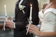 Jonge elegante gelukkige bruid bij de ceremonie Royalty-vrije Stock Foto