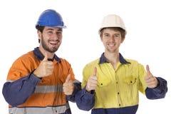 Jonge en Scherpe Arbeiders stock fotografie