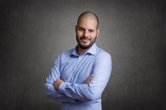 Jonge en slimme zakenman royalty-vrije stock foto