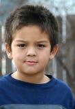 Jonge Ernstige Jongen Stock Foto
