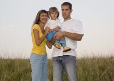 Jonge familieglimlach Royalty-vrije Stock Foto's