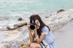 Jonge fotograaf Stock Foto