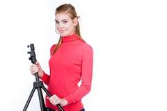 Jonge fotomedewerker Royalty-vrije Stock Afbeeldingen