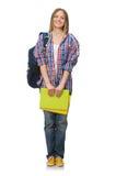Jonge geïsoleerde student Stock Afbeelding