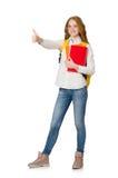 Jonge geïsoleerde student Royalty-vrije Stock Afbeeldingen