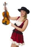 Jonge geïsoleerde vioolspeler Royalty-vrije Stock Afbeelding
