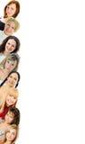 Jonge geïsoleerde vrouwen Stock Foto