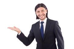 Jonge geïsoleerde zakenman Stock Afbeeldingen