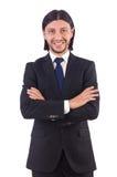 Jonge geïsoleerde zakenman Royalty-vrije Stock Foto