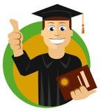 Jonge gediplomeerdestudent Royalty-vrije Stock Afbeelding