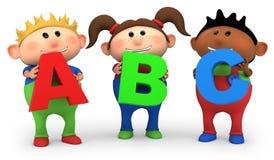 Jonge geitjes ABC Stock Fotografie