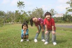 Jonge geitjes bij het park Stock Foto's