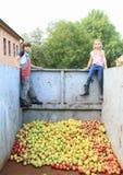 Jonge geitjes in container royalty-vrije stock foto's