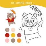Jonge geitjes die boek kleuren royalty-vrije illustratie