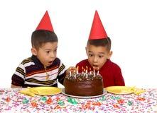 Jonge geitjes en verjaardag Royalty-vrije Stock Afbeelding