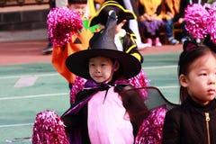 Jonge geitjes in Halloween Royalty-vrije Stock Afbeelding
