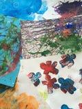 Jonge geitjes het schilderen Stock Fotografie