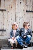 Jonge geitjes in openlucht Royalty-vrije Stock Foto's