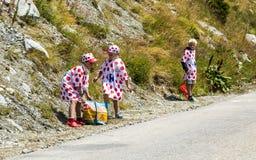 Jonge geitjes in Stip Jersey - Ronde van Frankrijk 2015 Royalty-vrije Stock Afbeelding