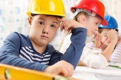 Jonge geitjes toekomstige ingenieurs Royalty-vrije Stock Fotografie