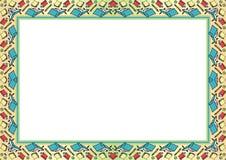 Jonge geitjeskader - Grens met gemaakt van beeldverhaal van regelingsboek, potlood en bal royalty-vrije illustratie