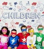 Jonge geitjeskinderen Joy Happy Child Concept stock foto's
