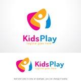 Jonge geitjesspel Logo Template Design Vector Royalty-vrije Stock Foto
