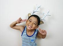 Jonge gelukkige jongen Stock Afbeelding