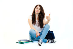 Jonge gelukkige student Stock Afbeelding