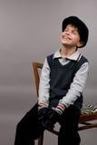 Jonge gelukkige tienerjongen Royalty-vrije Stock Foto's