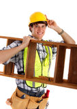 Jonge Gelukkige Timmerman Stock Afbeelding